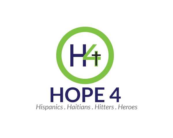 Hope 4 Hispanics, Haitians, Hitters and Heroes Logo Design Logo Design Portfolio