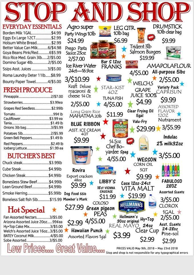 Stop & Shop Supermarket - St Croix Information