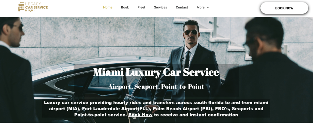 Legacy Car Service Miami - Hialeah Documentation