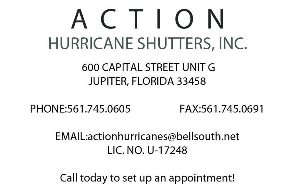 Action Hurricane Shutters - Jupiter Appointments