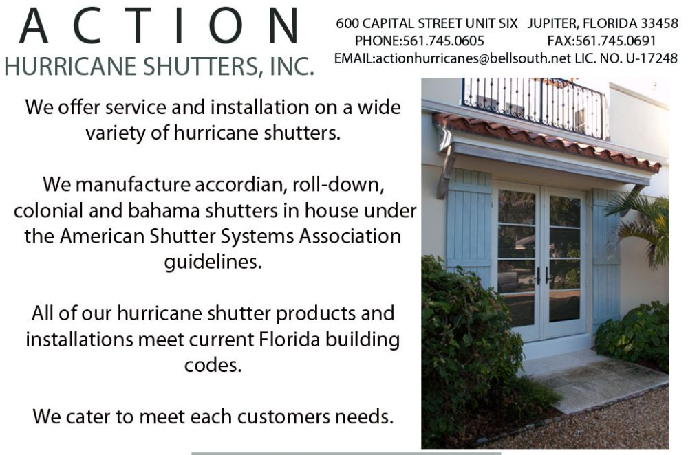 Action Hurricane Shutters - Jupiter Accessibility