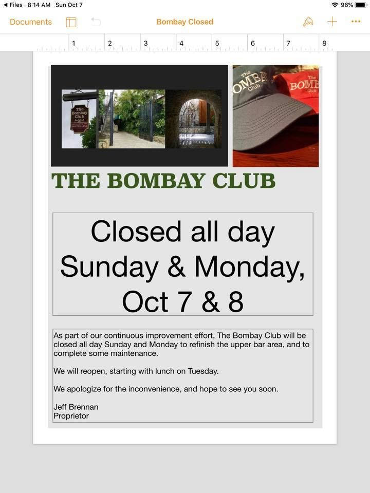 The Bombay Club - St Croix Webpagedepot