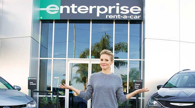 Enterprise Rent-A-Car truck