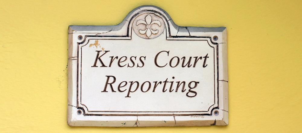 Kress Court Reporting Information
