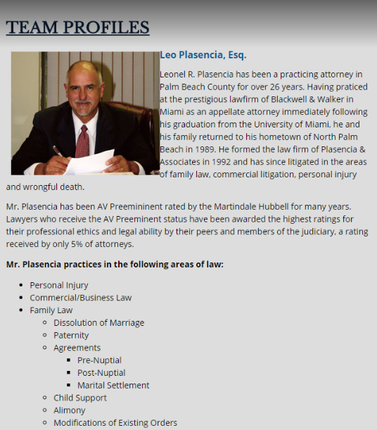 Plasencia & Associates Information