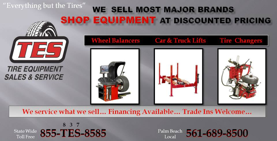 Tire Equipment Sales & Service - West Palm Beach Affordability