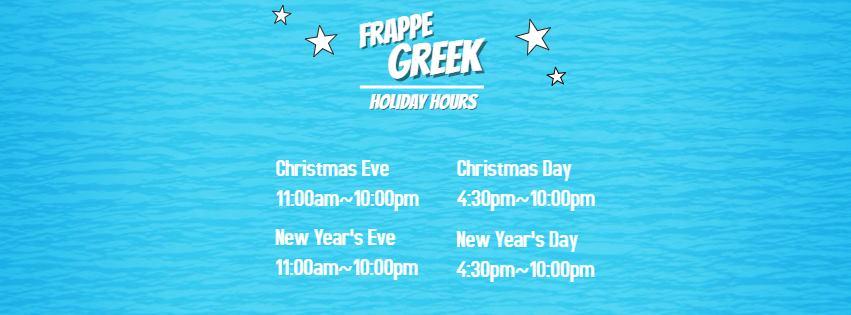 Frappe Greek - Sunny Isles Beach Organization