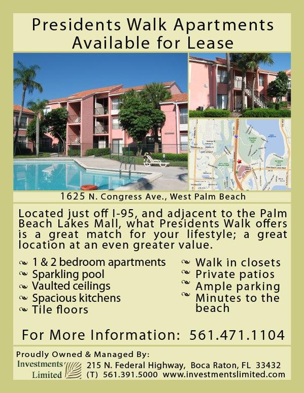 President's Walk - West Palm Beach Apartments