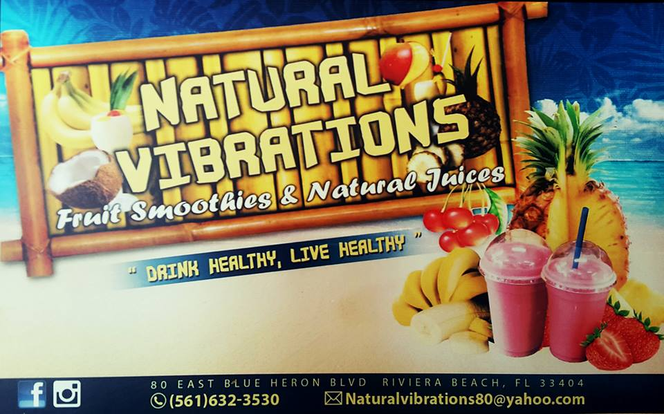 Natural Vibrations Smoothie Cafe - Riviera Beach Information