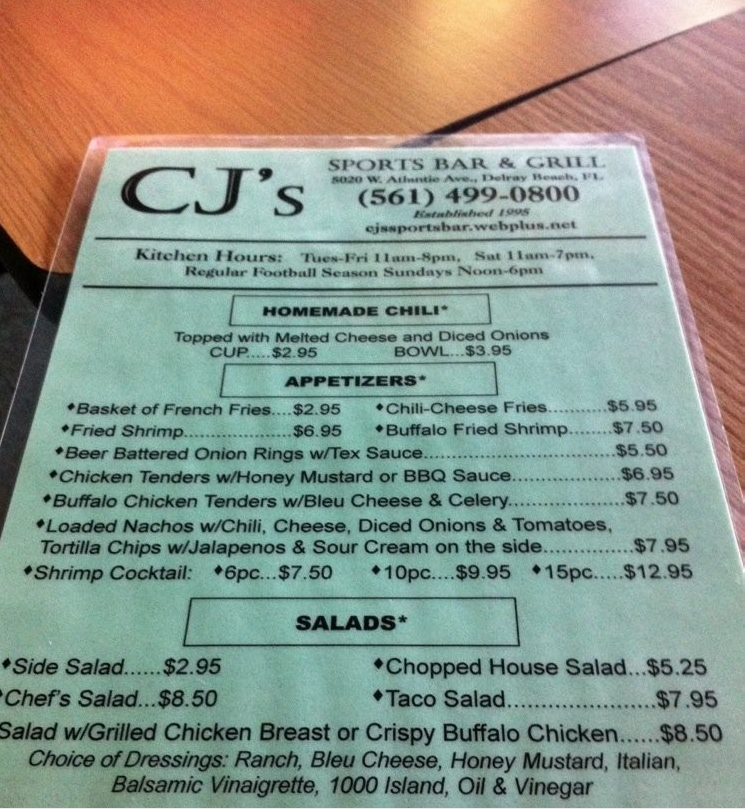 CJ's Sports Bar & Grill - Delray Beach Accessibility