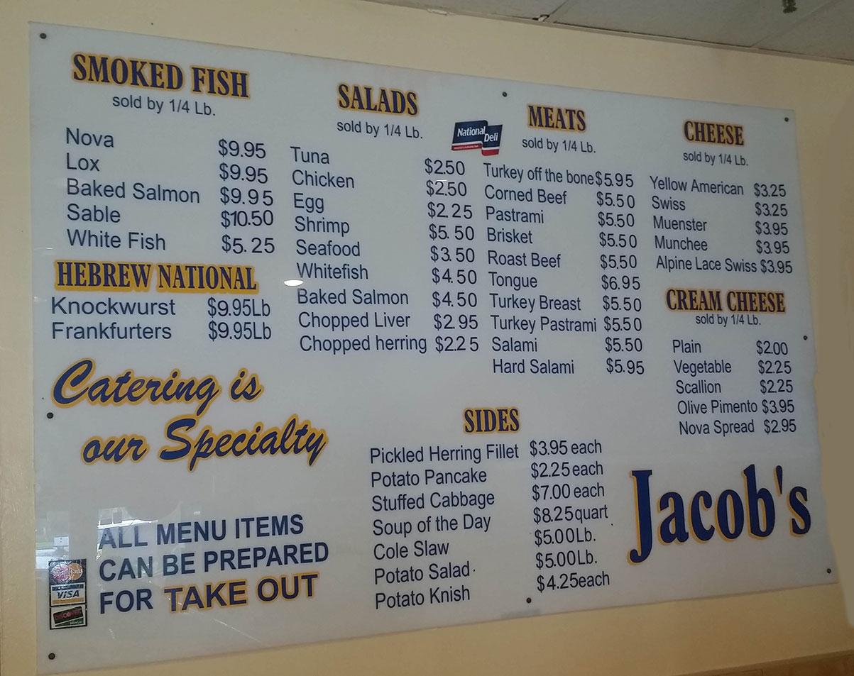 Jacob's Restaurant & Delicatessen - Boynton Establishment